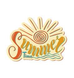 beautiful handwritten text summer time on a vector image