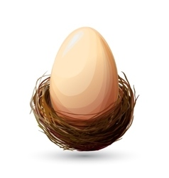 Bird Nest With Egg vector image