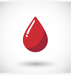 blood drop flat icon vector image