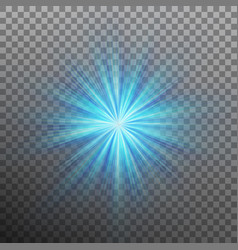 Blue burst color forces light eps 10 vector