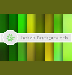 bokeh backgrounds set vector image