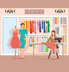 Boutique indoor womans cloths fashion vector
