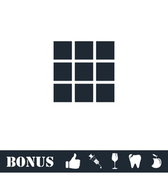 Building block icon flat vector