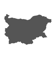 bulgaria map black icon on white background vector image
