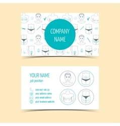 Business cards for plastic surgery clinic vector