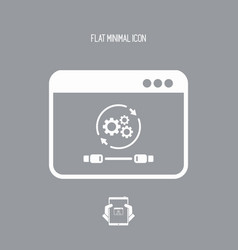 cable connection settings icon vector image
