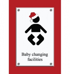 Christmas baby changing sign vector