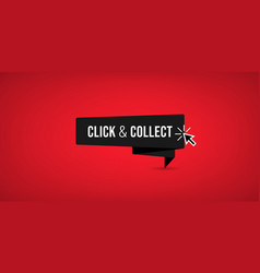 click collect sign vector image