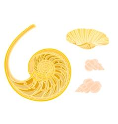 Collection marine life seashells vector