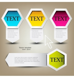 Colorful bookmarks for text Colorful paper arrows vector image