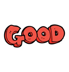 Comic cartoon good sign vector