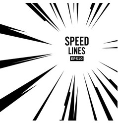 comic speed lines explosion vector image