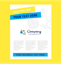 communication title page design for company vector image