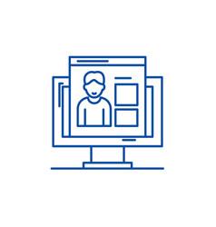 competences line icon concept competences flat vector image