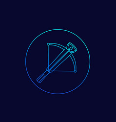 crossbow icon linear design vector image