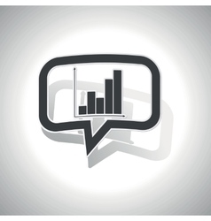 Curved graphic message icon vector