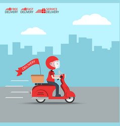 Delivery ride motorcycle service order worldwide vector