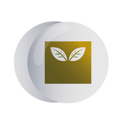 Design logo with leaf for corporate company vector