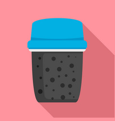 Dirty water filter icon flat style vector