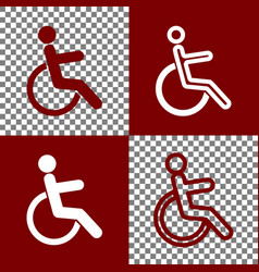 disabled sign bordo and vector image