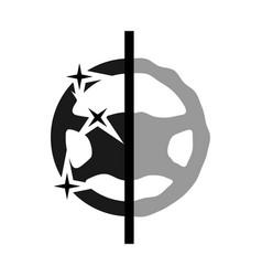 driving wheel restoration icon car steering wheel vector image