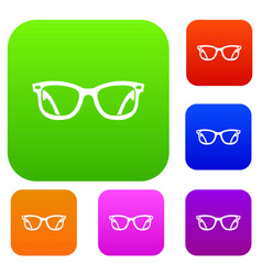 eyeglasses set collection vector image