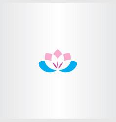 flower lotus logo icon symbol vector image