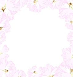 Frame with pastel pink roses vector image