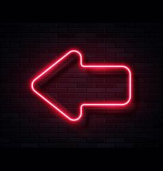 futuristic sci fi modern neon red glowing vector image