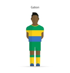 Gabon football player Soccer uniform vector