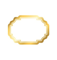 Gold frame simple golden white design vector