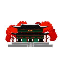 gyeongbokgung palace vector image