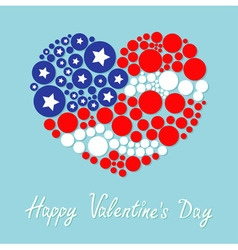 Happy Valentines Day Love card Round dot heart vector