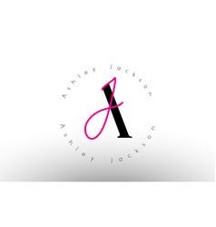 Letter aj signature minimalistic logo simple aj vector
