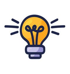 Light bulb cartoon doodle electric energy vector
