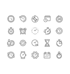 Line Time Icons vector