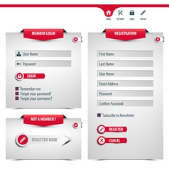 Login and register form vector