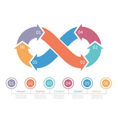 loop symbol infinity infographic element vector image
