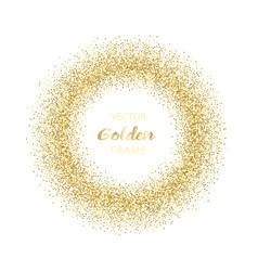luxury golden glitter round frame vector image