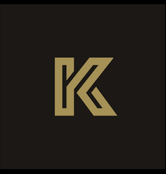 luxury letter k logo design concept template vector image