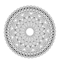 Mandala oriental decorative element ethnic design vector