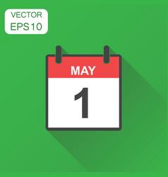 may 1 calendar icon business concept calendar vector image