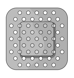 medical plastermedicine single icon in black vector image