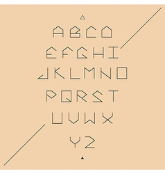 Modern sans serif lineales geometric font vector