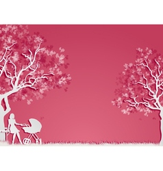 Motherhood and childhood vector image