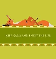 Motivational card keep calm and enjoy life vector