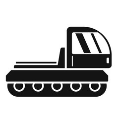 mountain snowcat icon simple style vector image