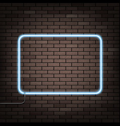 Neon frame on the wall vector