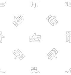 One finger pattern seamless vector