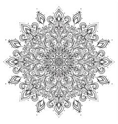 Outline mandala ornament vector